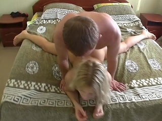 Honey with valuable round arse getting gaped deep by wicked guy