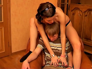 Attractive cutie teen getting nailed by dirty lucky fellow
