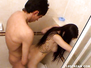 Take a look at this steamy shower scene featuring a long haired brunette hair legal age teenager named Milana and her paramour Koresh. Their shower turned into a craving filled romantic meeting. It begins with a orall-service pleasure, but it`s not long previous to this legal age teenager has her tender snatch penetrated by his rock hard shaft.