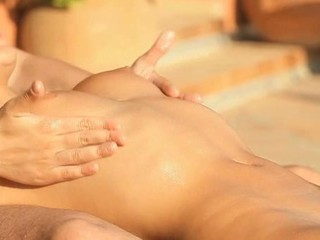 Delightful honey is satisfying her cunt with fingers and toy