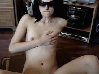 Very charming cutie disrobes and masturbates in advance of camera