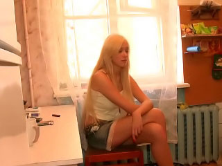 Gorgeous sexy golden-haired sexy teen getting gaped hard by big rod