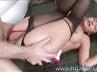 The hottie could receive strong orgasms merely from anal fucking