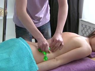 Juvenile masseur is working hard to fun  lustful angel