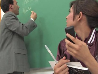 Older teacher punishes a schoolgirl with his pulsating 10-Pounder