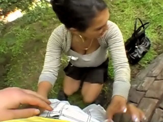 Hot marvelous girl gets screwed and cummed outdoors by dirty chap