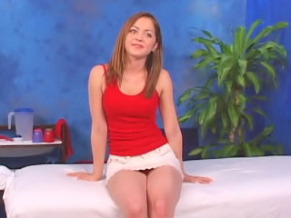 Marvelous teen getting drilled hard after massage