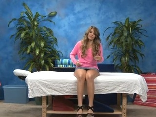 Hawt eighteen year old playgirl acquires drilled hard from behind by her massage therapist