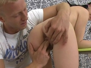 Desirable beauty in sexy nylons acquires wild anal thrashing
