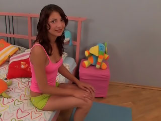 Amazing legal age teenager with tiny tits posing and getting screwed hard