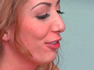 Vivie Delmonico sucking vertical wiener and getting drilled indeed deep