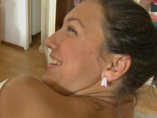 Youthful masseur is getting a hard boner from massaging babe