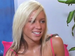 Gorgeous blond legal age teenager sucking and getting drilled hard