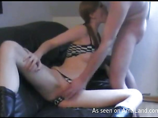 Chap stuffs moist hole of his cute girlfriend by his large cock